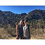 Lea got her fitness in, hiking 14 miles!