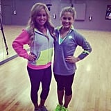 Shawn Johnson and Sabrina Bryan geared up for the new season of Dancing With the Stars in the studio. Source: Instagram user shawnjohnson