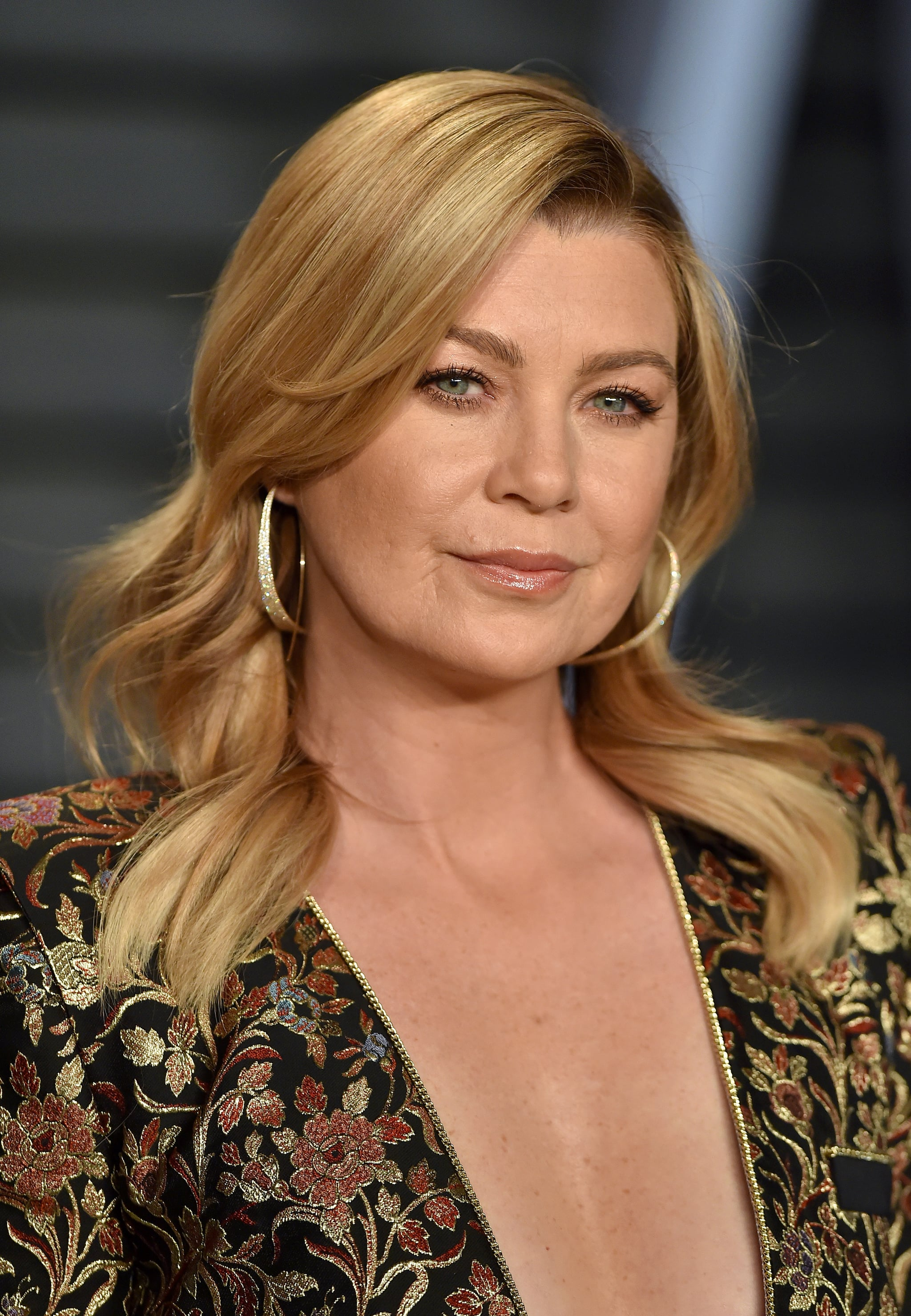 BEVERLY HILLS, CA - MARCH 04:  Actress Ellen Pompeo attends the 2018 Vanity Fair Oscar Party hosted by Radhika Jones at Wallis Annenberg Center for the Performing Arts on March 4, 2018 in Beverly Hills, California.  (Photo by Axelle/Bauer-Griffin/FilmMagic)
