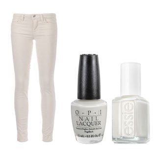 J Brand White Jeans and White Nail Polish Trend: Shop Our Top 5 White Nail Polishes