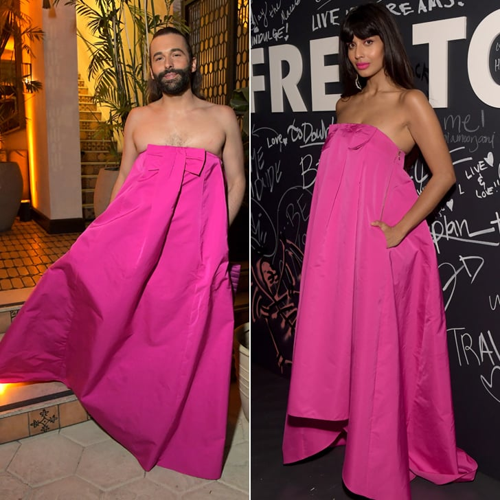 Jameela Jamil and Jonathan Van Ness Wore the Same Pink Dress