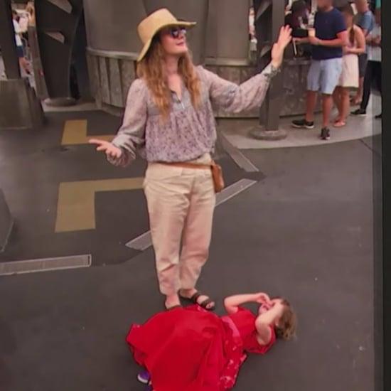 Drew Barrymore's Daughter Having Tantrum at Disney World