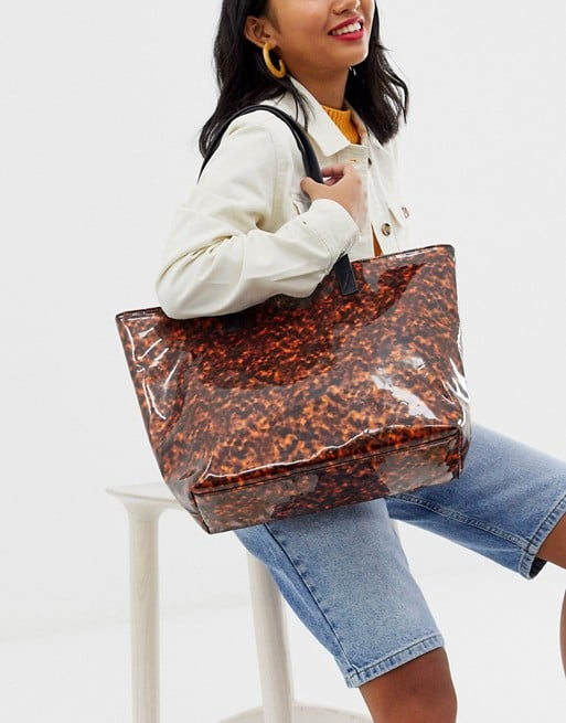 My Accessories London Exclusive Tortoiseshell Tote Bag