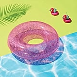 Glitter Tube Pool Float Pink