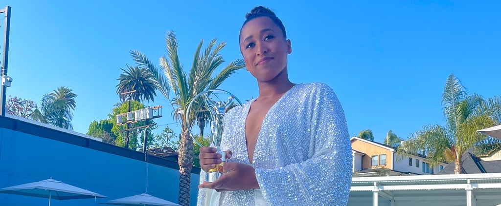 Naomi Osaka Wore a White Sequin ASOS Dress at Laureus Awards