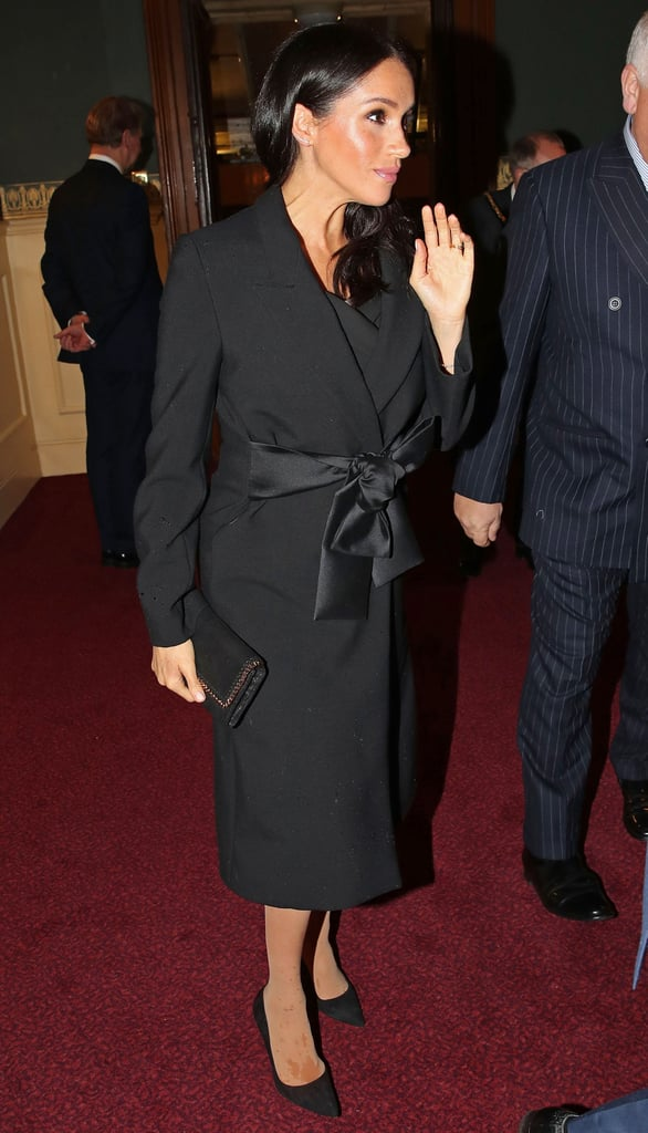 Meghan Wearing Tights Under Her Stella McCartney Coat at the Festival of Remembrance in November 2018