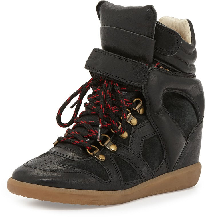 Isabel Marant Buck Leather Wedge Sneaker ($830)