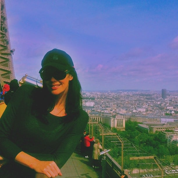 Megan Gale climbed the Eiffel Tower. She's in France for the Cannes Film Festival. Source: Instagram user megankgale