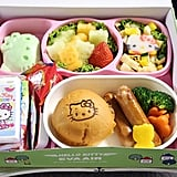 Unlike the stale, boring airplane food to which airline regulars have grown accustomed, the Hello Kitty flights offer themed munchies. The food's bright colors and cute packaging delight fans of the equally cute cartoon franchise.