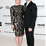 True Blood duo and real-life couple Anna Paquin and hubby Stephen Moyer stepped out arm in arm for Elton John's afterparty.