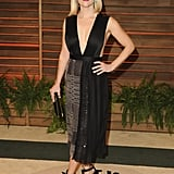 In what might be her most daring look yet, Reese picked a black dress with a fairly skimpy top half for 2014's Vanity Fair Oscars party.
