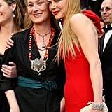 Nicole Kidman and Meryl Streep cuddled up on the red carpet.