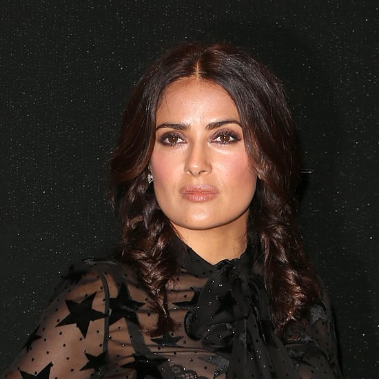Salma Hayek Wears a Sheer Outfit at Paris Fashion Week