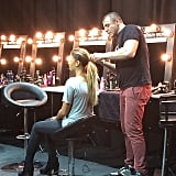 We watched Redken Hair Director Jon Pulitano work his magic on a model at Fashion Weekend Edition. There's a serious amount of work going into those Fashion Week hairstyles. . .