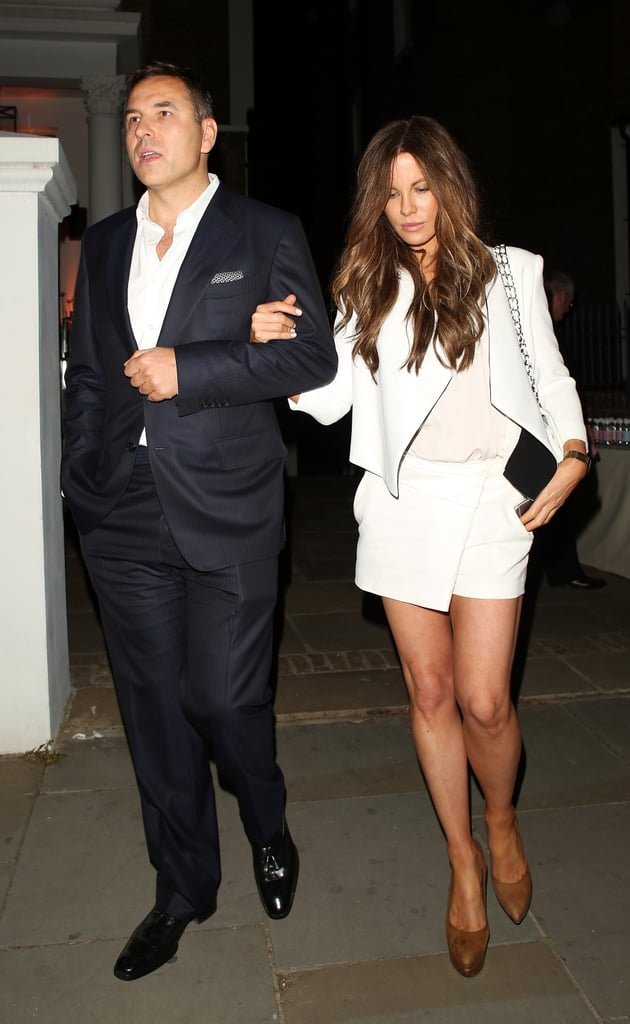 Kate looked lovely in a bright white set while attending the ITV Summer party.