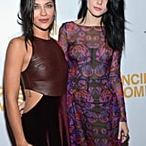 Jessica Szohr and Jessica Stam posed together on the red carpet.