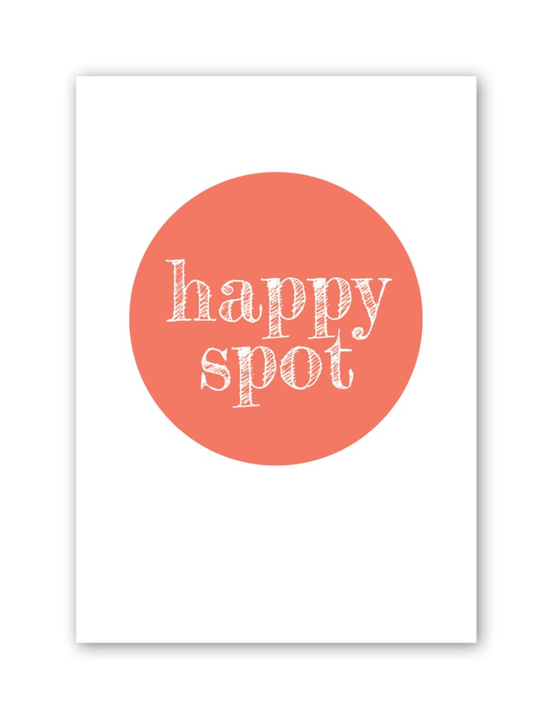 Make your desk your happy spot thanks to this simple but fun circle print ($24).
