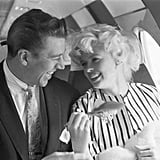 Actress Jayne Mansfield and champion bodybuilder Mickey Hargitay were photographed aboard a plane on the way to Cannes in 1958. Jayne and Mickey are the parents of Law & Order: Special Victims Unit star Mariska Hargitay.