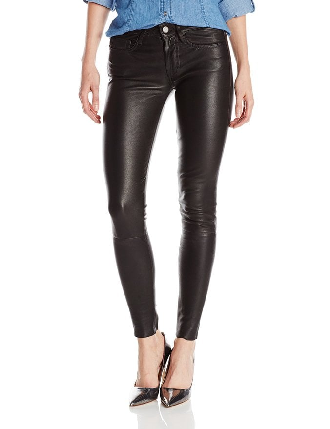 True Religion Women's Halle Mid Rise Super Skinny Leather Pant ($698)