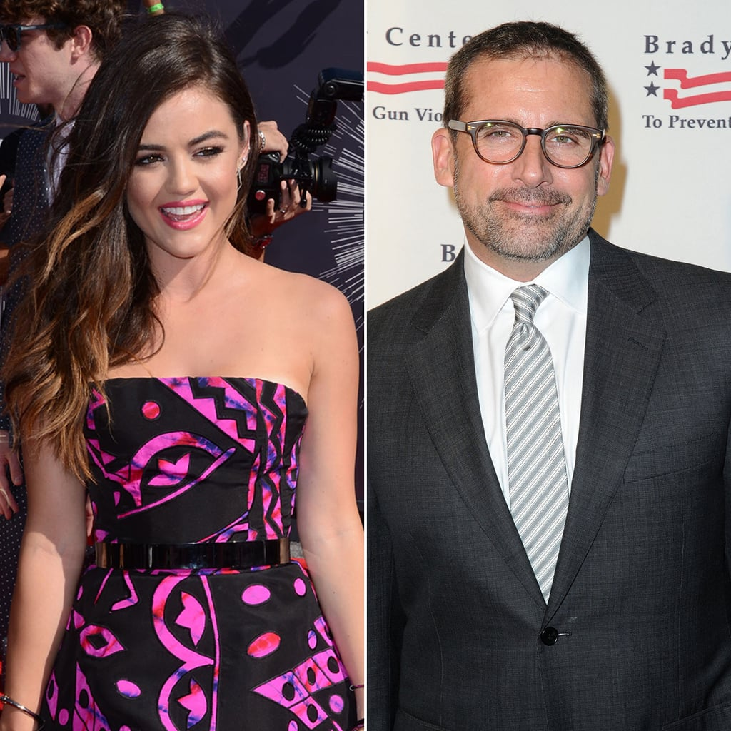 Lucy Hale and Steve Carell