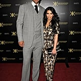 Kim Kardashian with fiancé Kris Humphries.