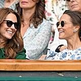 Kate and Pippa at the 2019 Wimbledon Championships.