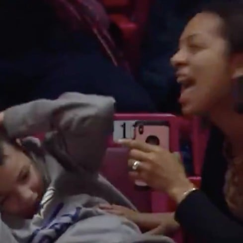 Video of Mom Flossing at Basketball Game