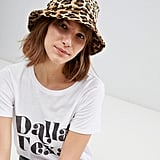 Stradivarius Leopard Bucket Hat