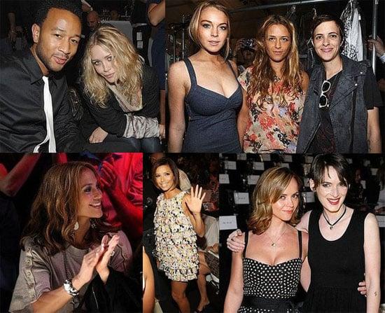 Photos of Celebrities Attending New York Fashion Week 2008-09-08 07:45:12