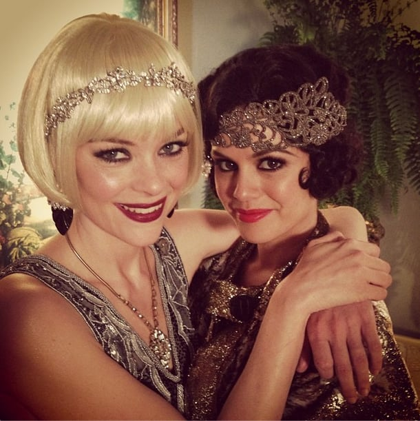 Friends and flappers, Jaime King and Rachel Bilson channeled the roaring '20s on the Hart of Dixie set. Source: Instagram user jaime_king
