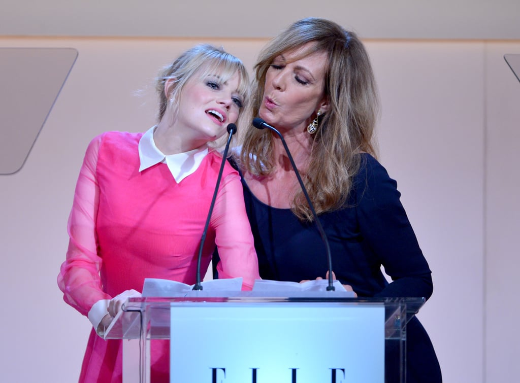 Emma Stone and Allison Janney appeared on stage at the awards.