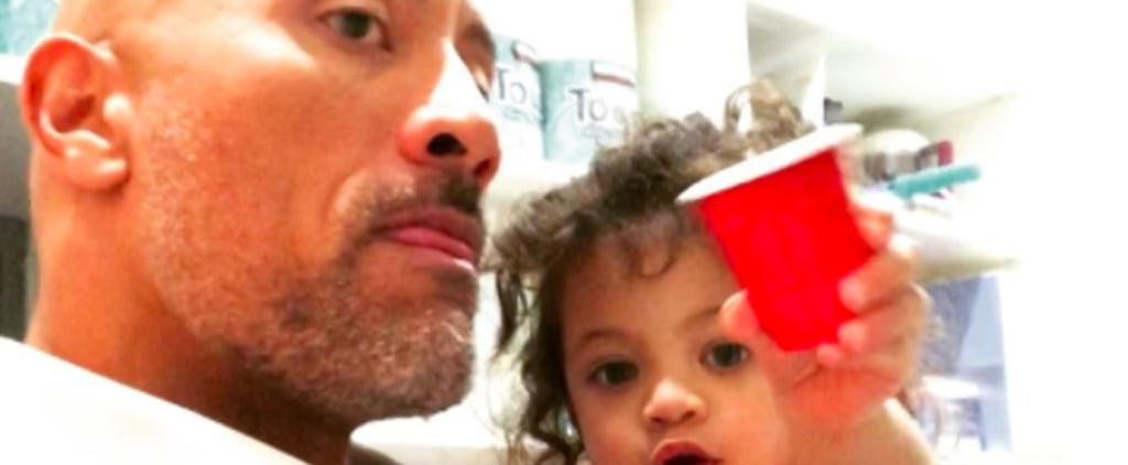 Dwayne Johnson's Daughter Trying to Con Him Into Snacks Before Dinner Is Every Toddler