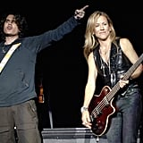 Sheryl Crown and John Mayer surprised guests with a duet during an October 2006 show in Mountain View, CA.