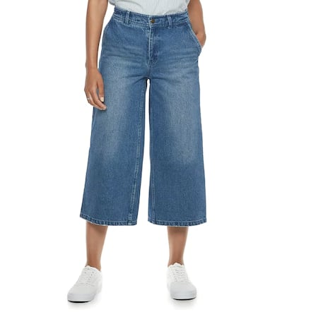 Flare-Leg Crop Jeans
