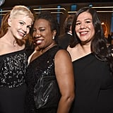 Pictured: Michelle Williams, Tarana Burke, and Monica Ramirez