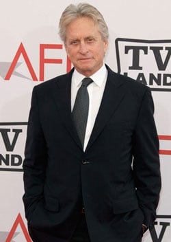 Pictures of Michael Douglas Who Will Undergo Chemotherapy and Radiation Treatment for Throat Tumour