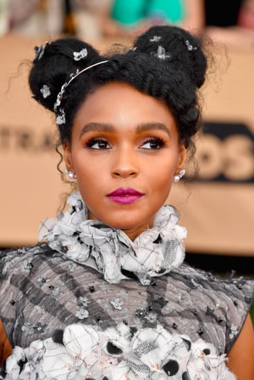Janelle Monae Hair and Makeup at the 2017 SAG Awards