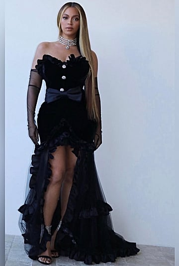 Beyoncé's Alessandra Rich Dress and Choker at the BET Awards