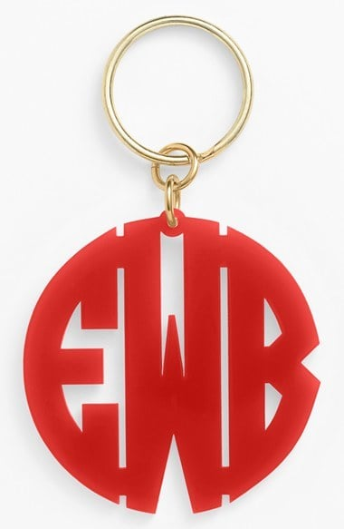 Moon and Lola Personalized Monogram Key Chain ($34)