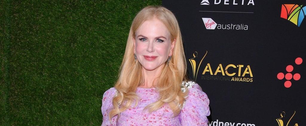 Nicole Kidman Wearing Purple Gown