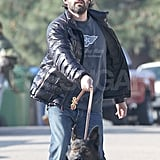 Ben Affleck walked his dog in LA.