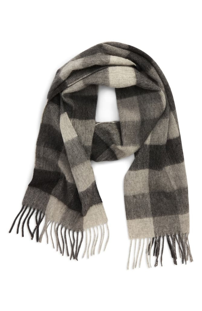 Barbour Check Wool Scarf