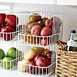 Container Store Scala Steel Wire Stackable Baskets
