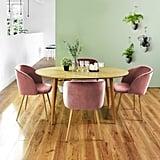 EGGREE Mid-Century Modern Velvet Accent Chair