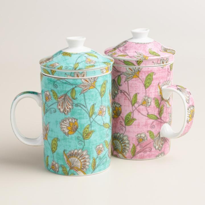 Pip Floral Ceramic Infuser Mug