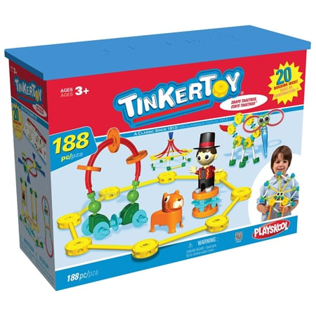 All K'Nex products are made in Pennsylvania, and the Tinkertoy Big Top Building Set ($56) is no exception. It comes with 188 durable plastic pieces for hours of circus-inspired fun.