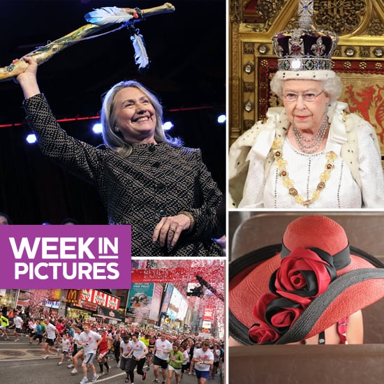 Hillary Gets Kudos, the Queen Opens Parliament, and Gaudy Derby Hats Steal the Show