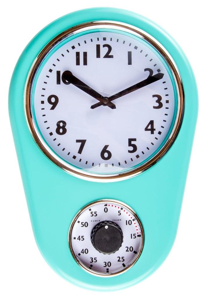 Retro Kitchen Timer Wall Clock