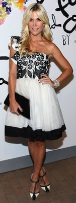Tinsley Mortimer in One-Shoulder Alice and Olivia Dress