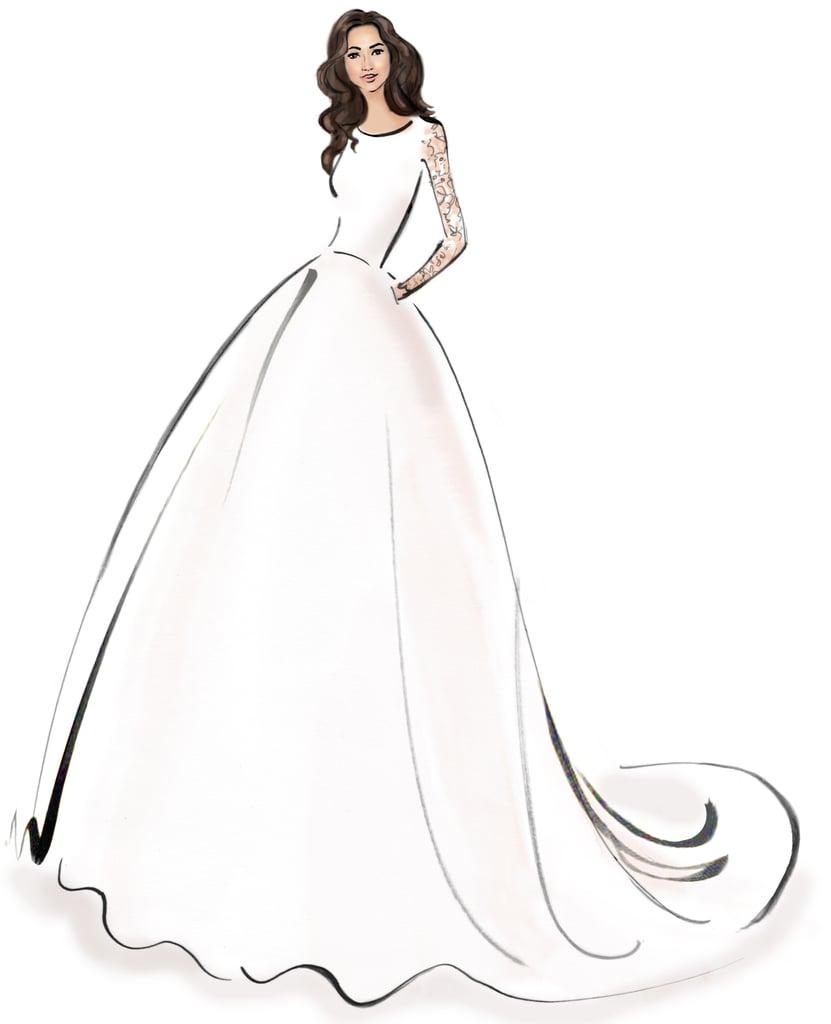 Sketches Of Wedding Gowns: A Design By Caroline Castigliano